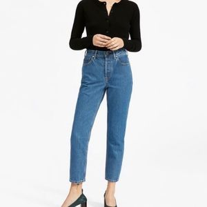 Everlane High Rise Straight Leg Regular fit jeans